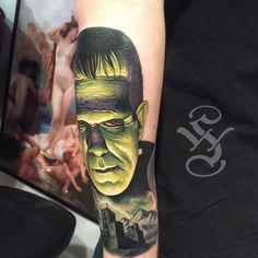 Frankenstein. Frankenstein Tattoo, Frankenstein 1931, Design Tattoos, Tattoo Designs, Tattoo Ideas, Tattoo Time, Tattoo Art, Sexy Tattoos, Tatoos