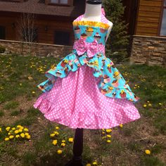 birthday party cupcake dress by SoSoHippo on Etsy