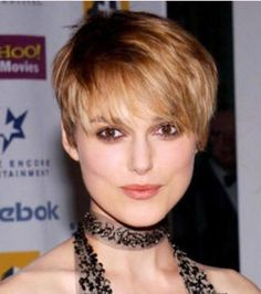 Now I don't normally post pixie cuts because I don't like them much, but this choppy pixie cut is more acceptable to me.  It's not just because it's Keira, but I the length and how the ends are done help a lot.  It might not be a true pixie, but it looks a lot better.