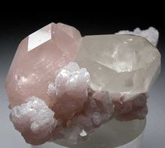 Morganite with Quartz and Lepidolite from Dara-i-Pech, Kunar Prov., Afghanistan