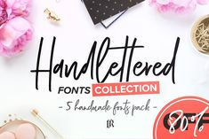 Handlettered Fonts Collection by Ivan Rosenberg on @creativemarket