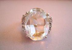 verkopers.marktplaats.nl/7443487 Mooie vintage 70's 80's ring grote kristal steen