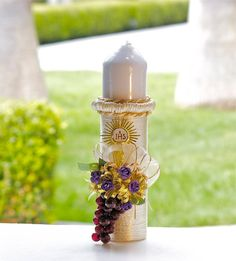 Christening Candle Ceremony Candle First Holy by CeremonyDeluxe, $65.00