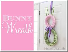 Put a new twist on the word Wreath. Fun easy DIY Easter craft.