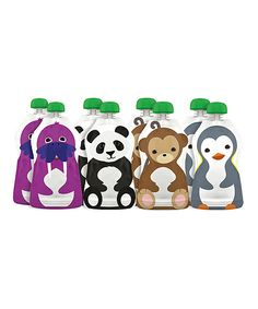 Take a look at this Squooshi Large Reusable Food Pouch Set on zulily today! Pureed Food Recipes, Baby Food Recipes, Toddler Meals, Kids Meals, Toddler Food, Little Babies, Little Ones, Baby Bottle Holders, Baby Must Haves