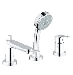 Grohe Bauedge 3 Hole Bath Shower Combination In Chrome Finish (25117000)