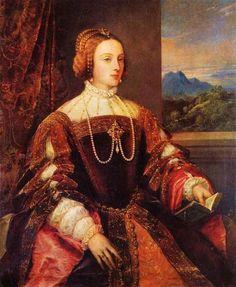 Tycjan - Empress Isabel of Portugal 1548, Museo del Prado, Madrid, Spain.