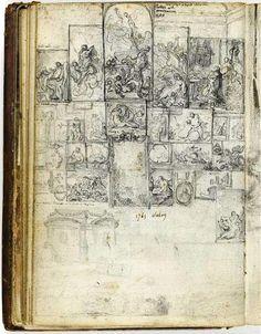 """adayofjamandbread:    """"the marvels which his pencil wrought.""""  Whittier  loquaciousconnoisseur:    Gabriel de Saint-Aubin  Louvre · Salon de 1765  Sketch · Folio 20"""