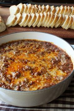 Chef John s Hot Sloppy Joe Dip Amazing dip recipe for the big game day DELICIOUS As usual Chef you are the BOMB appetizers appetizerrecipes appetizerideas apps entertaining Yummy Appetizers, Appetizers For Party, Dip Recipes For Parties, Appetizer Dips, Game Day Recipes, Best Appetizers Ever, Simple Appetizers, Best Appetizer Recipes, Seafood Appetizers