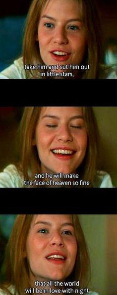 Act 3, Scene 2 Juliet (Photograph from Baz Luhrmann's 1996 film)