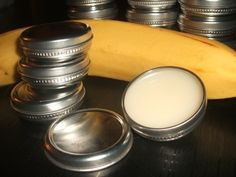 Banana Lip Balm  •  Free tutorial with pictures on how to make a lip balm in under 120 minutes