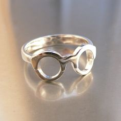 Harry Potter Glasses Ring. $82.00.   Sterling Silver Ring. Designed + Made + Packaged in the San Francisco Bay Area.