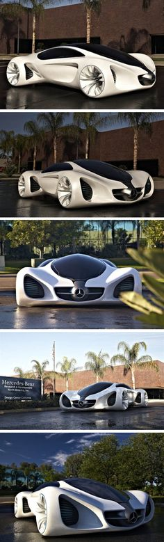 Mercedes Biome Concept – Impressive Car - The car is literally grown from seeds. Mercedes revealed their work of art at the Los Angeles Auto Show 2010. The Mercedes designers imagined this lab grown car to be made of a currently non-available or existent material called BioFibre. The Car would run on a fuel power called BioNectar4534, but like the BioFibre it doesn't exist.  The car would be entirely biodegradable and give off no harmful gases - nature friendly from beginning to end...x