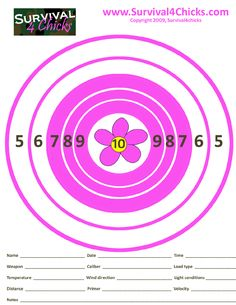 Women's shooting targets. Too girly for me but if it gets them out of the house...