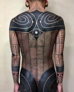 Taku Oshima's tribal tattoo - Body Art Tribal Tattoos, Tattoos Skull, Body Art Tattoos, Star Tattoos, Sleeve Tattoos, Celtic Tattoos, Tatoos, Tribal Tattoo Designs, Blackwork