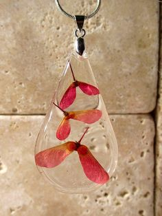 Maple seed necklace Maple pendant Leaf jewelry Plant by Chaerea