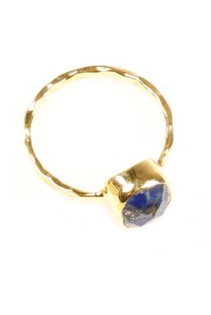 Square Lapis Ring--the stone of Ancient Egpytian jewlery