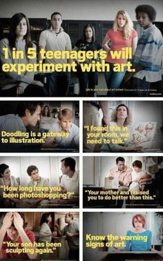 Fake PSAs for the art crowd.