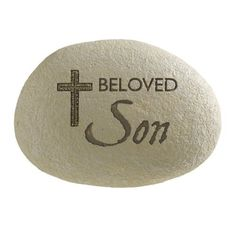 """Grasslands Road Always in Our Hearts """"Beloved Son"""" Engraved Remembrance Stone with Elegant Cross by Grasslands Road, http://www.amazon.com/dp/B004LQ1LRK/ref=cm_sw_r_pi_dp_CbhQpb1QMX0BJ"""