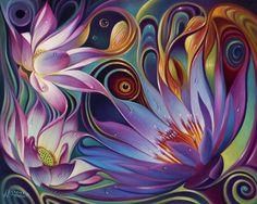 """Dynamic Floral Fantasy"" By Ricardo Chavez Mendez #Flowers #DopeAssArt"