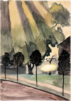 Charles Burchfield, Melted Frost on Shed Roof, 1916, watercolor and pencil on paper.