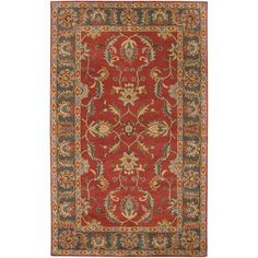 Artistic Weavers - Bradbury Rust Red Wool Area Rug - 10 Feet x 14 Feet - Bradbury-1014 - Home Depot Canada