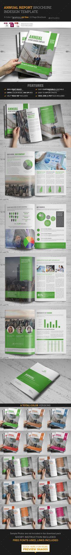 Annual Report Brochure Indesign Template - Corporate Brochures