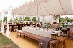 Beautiful Raj Tent Marquee / Kara & Jeff's Organic Country Wedding in New Zealand / Wedding Style Inspiration / LANE