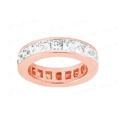 Memory Diamantring aus Rosegold mit 2.50 Karat Diamanten im Princessschliff