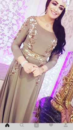 Caftan Dress, Hijab Dress, Hijab Fashion, Fashion Dresses, Blouse Batik, Oriental Dress, Afghan Dresses, Moroccan Caftan, Embroidery Fashion