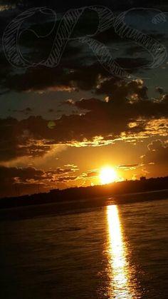 Por do Sol no Rio Paraná
