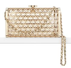 4) METALLIC MINAUDIERE. Shown Chanel Metal Moucharabieh Minaudiere. For those Black Tie events and Weddings.