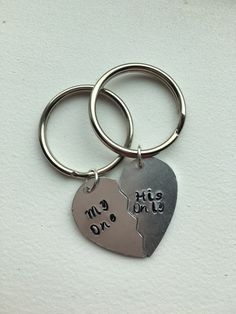 My one His only keychain.  For couples.  Bride by Lexiandfriends
