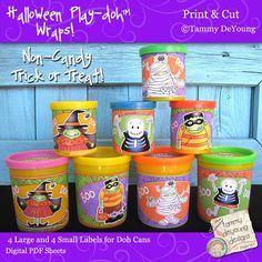 Halloween Party Favors Printable Wrappers for by songinmyheart