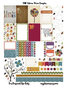 Free Printable Autumn Sampler for the MAMBI Happy Planner