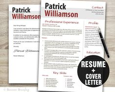 CV Template Instant Download Resume Template  by BusinessBranding