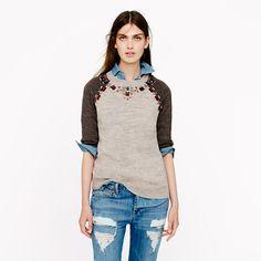 J.Crew - Jeweled sweater tee