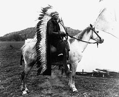 Quanah Parker, last chief of the Comanches, a fearsome horse warrior culture.