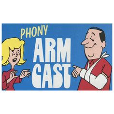 Phony Cast by Fun Inc. - A fake arm cast that's comes to you ready to wear. Looks just like the real thing. Pretend you're all 'broken up' when in fact you're not! Made in the USA by FUN get it here: http://www.wizardhq.com/servlet/the-14367/phony-cast-by-fun-inc/Detail?source=pintrest
