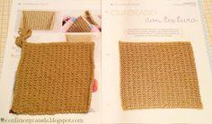 Cuadrado nº 21 de mi manta: PUNTO CON TEXTURA  #tricotfacilycreativo #punto #knitting #aprendiendoahacerpunto #squares #blanquet #teconlimonycanela #cuadradocontextura