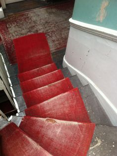 If this stairwell could talk, it would probably have many stories to tell.