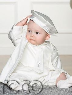 Boys Ivory Christening Outfit, Baby Boy Rompers, Christening Outfis for Boys