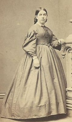CDV Photo Lovely Victorian Woman in Large Hoop Fashion Dress CWE Hartford C T | eBay