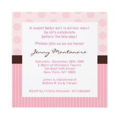 Shop Trendy Polka Dot Stripe Baby Shower Invitations created by little_prints. Pregnancy Photos, Baby Photos, Cute Backgrounds, Baby Shower Invitations, Invites, Babies R Us, Everything Baby, Lets Celebrate, Future Baby