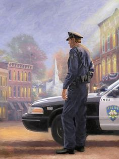 Called to Serve by Thomas Kinkade Law Enforcement Today www.lawenforcementtoday.com