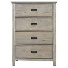 The Gilford 4 Drawer Dresser from Threshold is just the right size for your space. The bureau has four drawers to hold clothes in a closet or bedroom, or use it in other parts of the house to corral belongings in need of a home such as extra electronic equipment or board games. The dresser has clean lines and old school pulls.