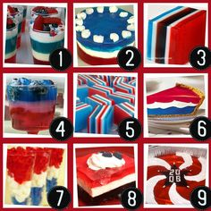 Great ideas for JELLO ideas on the 4th...