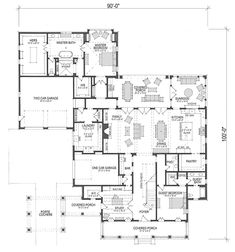 Looking for the best house plans? Check out the Caroline plan from Southern Living. Luxury House Plans, Shop House Plans, Best House Plans, Dream House Plans, Small House Plans, House Floor Plans, My Dream Home, One Story Homes, House Blueprints