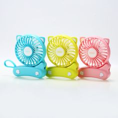 Portable Outdoor humidification and Cooling Electric USB Fan LH Shop Mini Silent Spray Color : Pink, Edition : Plug-in