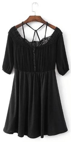 Lace Splicing Dress